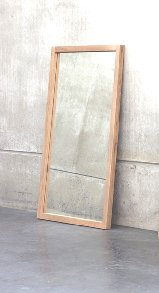 Ethnicraft Oak Light Frame Mirror  Spiegel  Teakwoodstore24