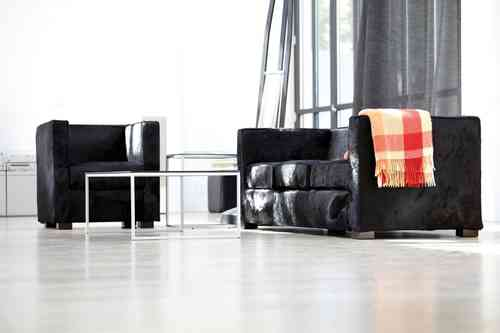 Jan Kurtz Sessel Daytona Kuhfell Black - Loungeserie