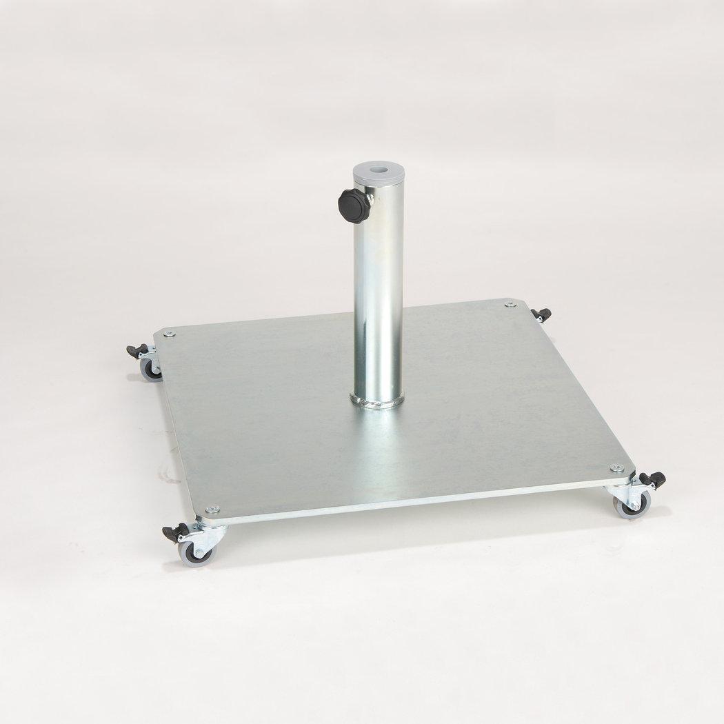jan kurtz stand quadratisch schirmst nder mit rollen teakwoodstore24. Black Bedroom Furniture Sets. Home Design Ideas