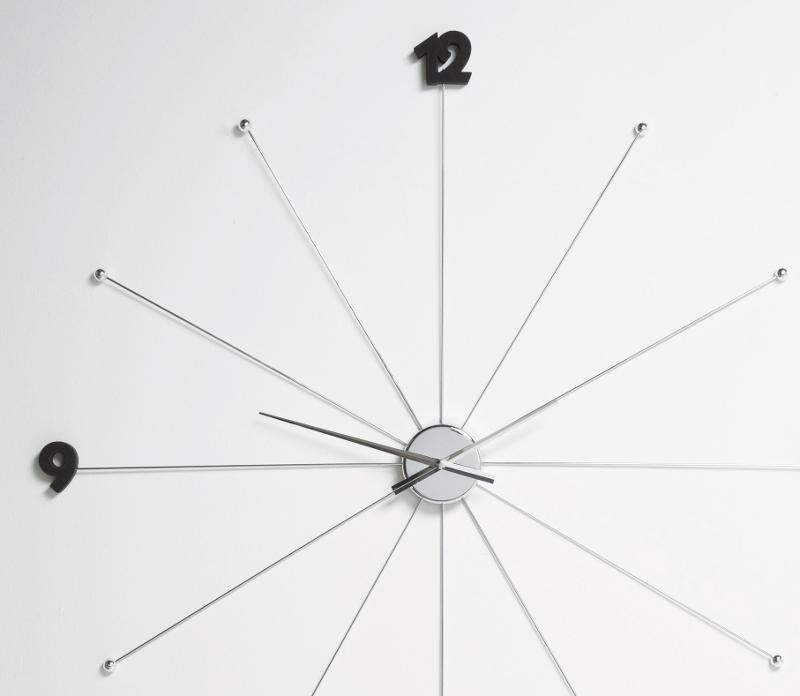 kare design like umbrella chrom wanduhr teakwoodstore24. Black Bedroom Furniture Sets. Home Design Ideas