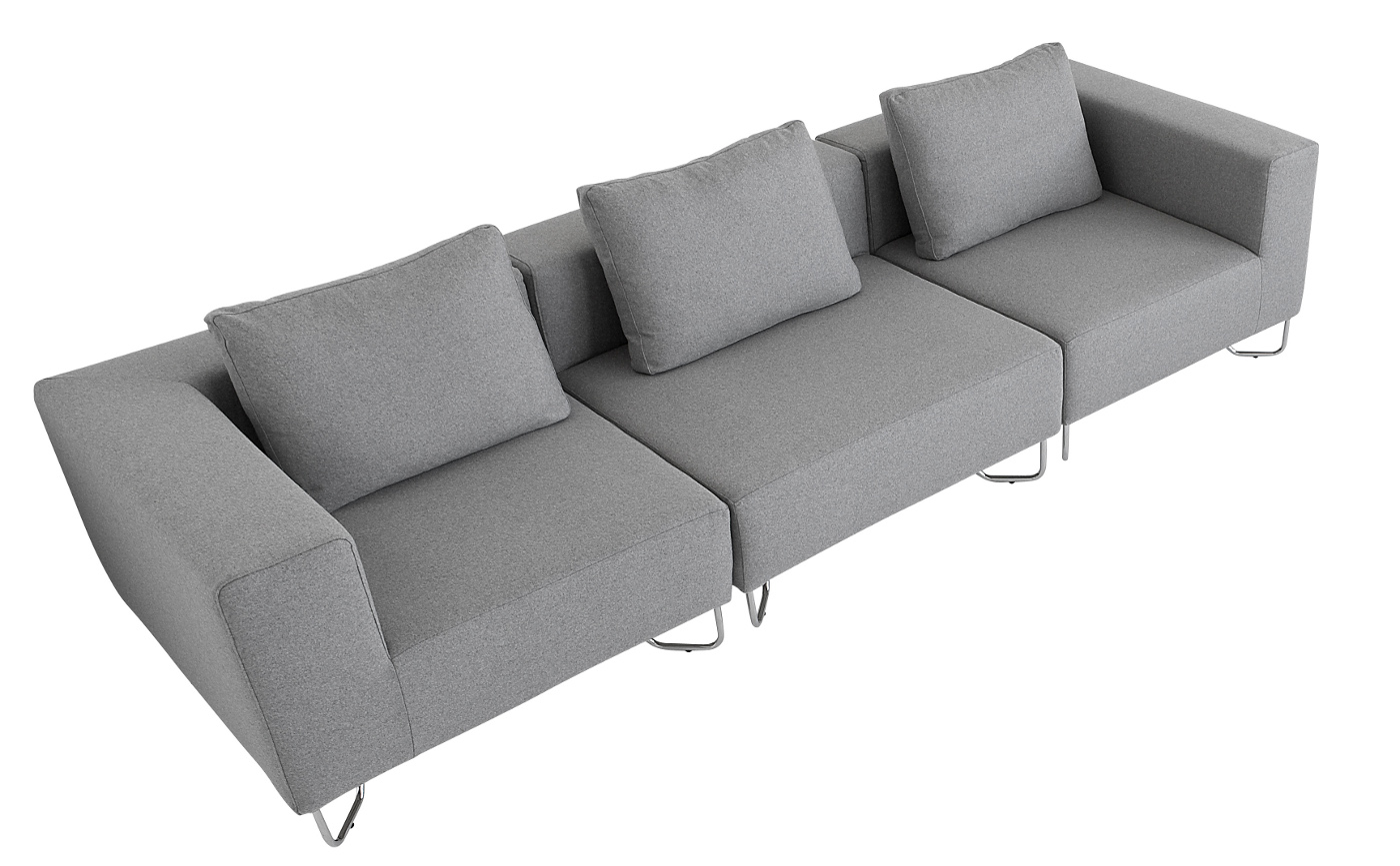 Softline lotus design sofa modulsofa teakwoodstore24 for Sofa dreisitzer
