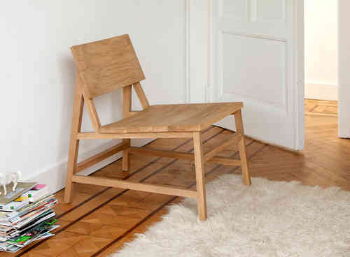 Ethnicraft Oak N2 Lounge Chair - Lounge Stuhl