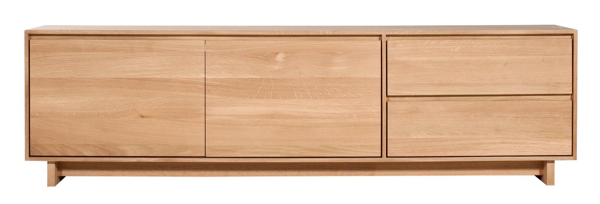 ethnicraft oak wave tv board mediaboard teakwoodstore24. Black Bedroom Furniture Sets. Home Design Ideas