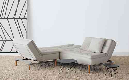 Innovation Dublexo Wood Twist Charcoal 563 - Schlafsofa