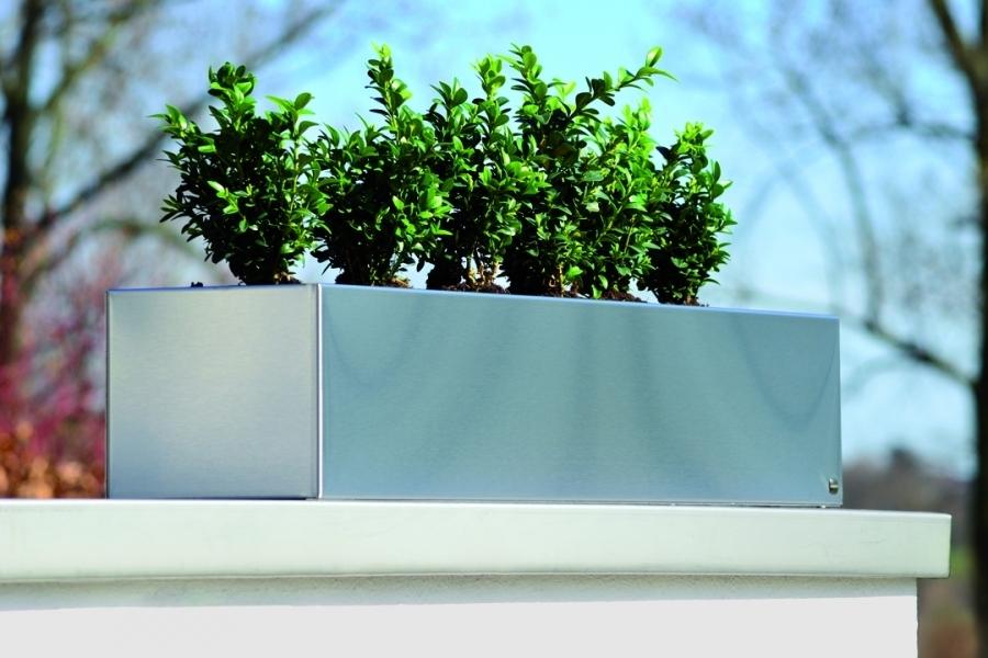 radius design edelstahl blumenkasten teakwoodstore24. Black Bedroom Furniture Sets. Home Design Ideas