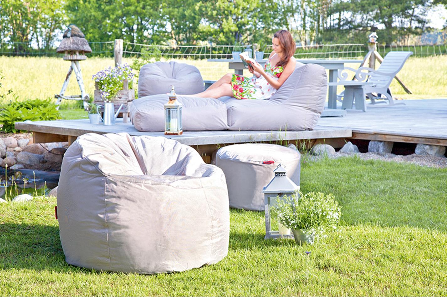 outbag donut plus outdoor sitzsack teakwoodstore24. Black Bedroom Furniture Sets. Home Design Ideas