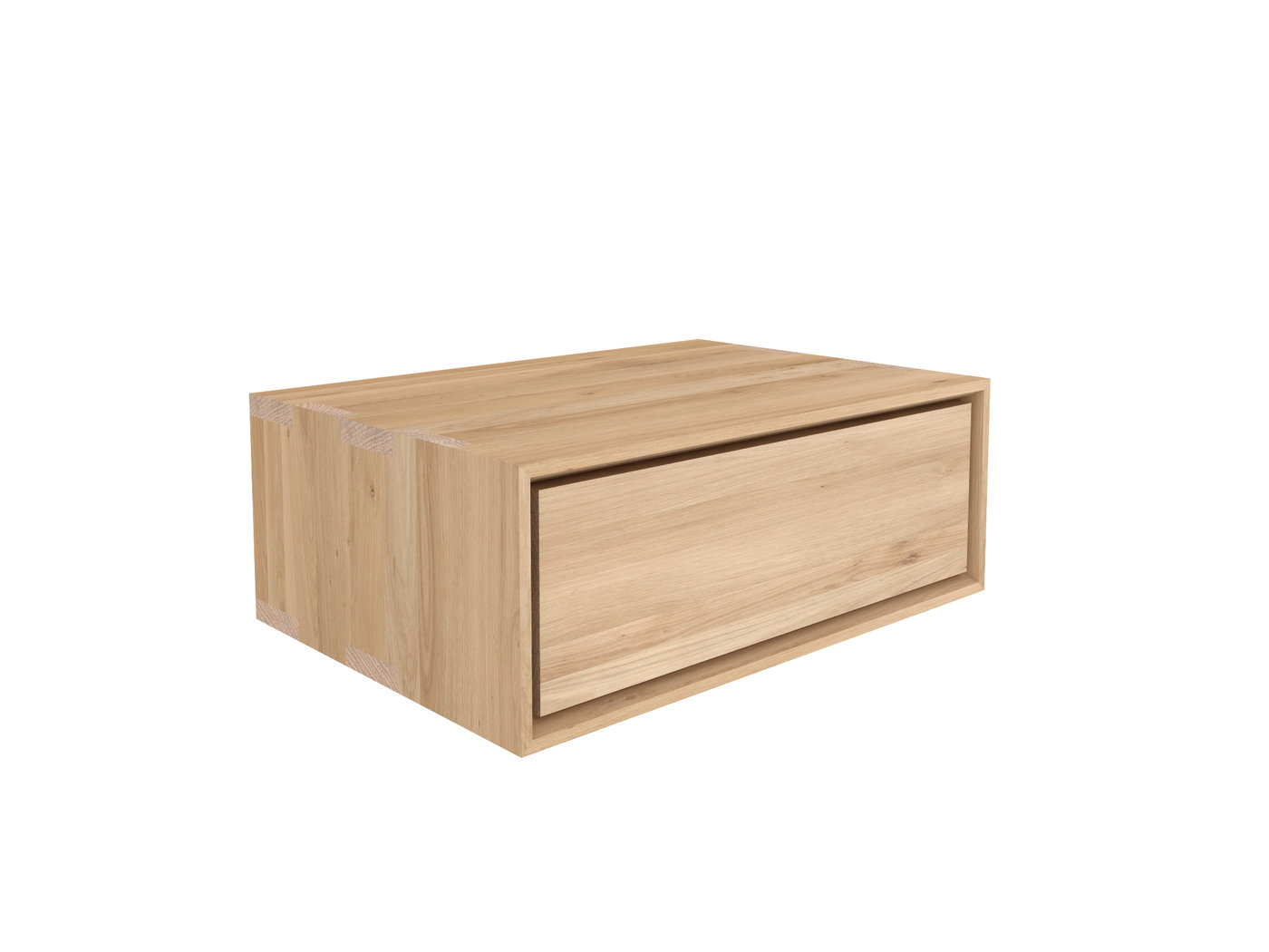 Ethnicraft oak nordic ii nightstand nachttisch h ngend teakwoodstore24 - Nachttisch wandmontage ...