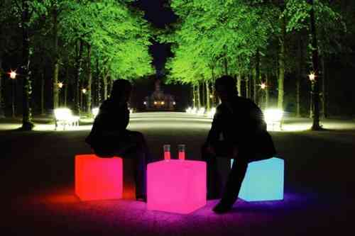 Moree Cube Outdoor LED ACCU - Leuchttisch