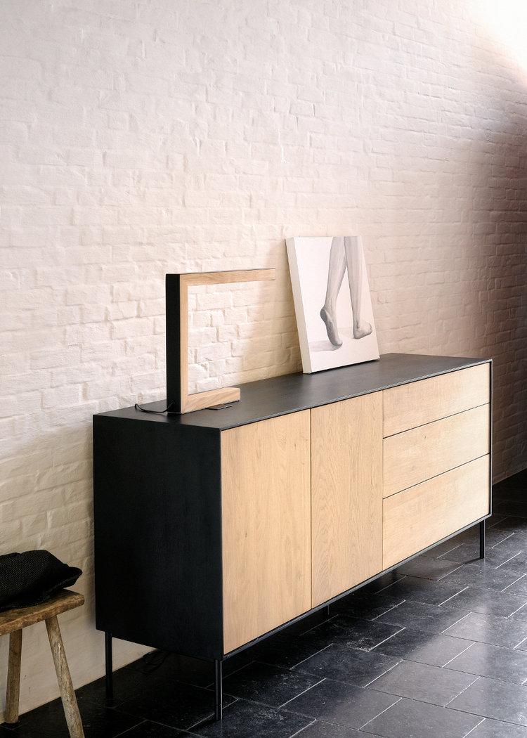 ethnicraft eiche blackbird sideboard teakwoodstore24. Black Bedroom Furniture Sets. Home Design Ideas