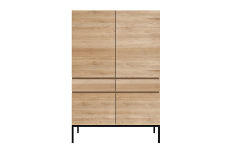 Ethnicraft Oak Ligna Black Cupboard - Hochschrank
